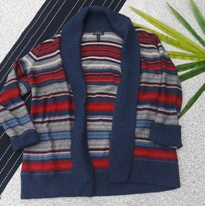 {Ralph Lauren} Open Striped Cardigan Western 1X